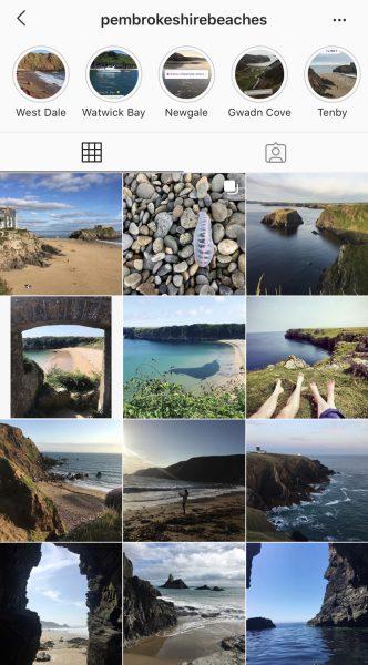 Pembrokeshire Beaches instagram Feed